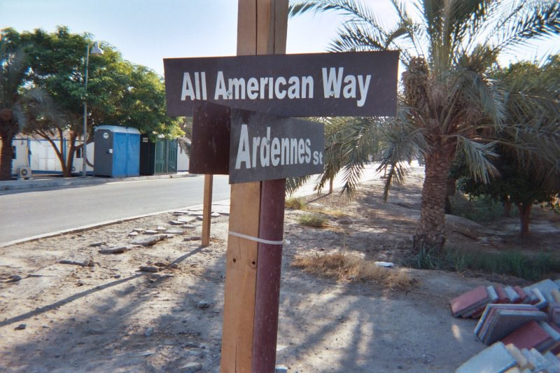 Streets of Camp Blue Diamond (outside of Ramadi, Iraq)
