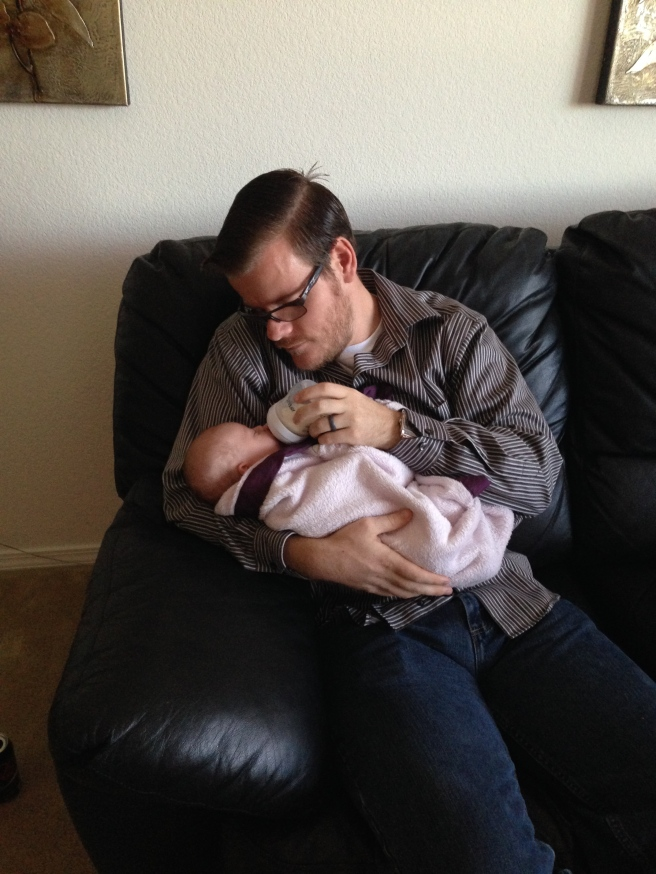 My husband spoiling his baby niece.