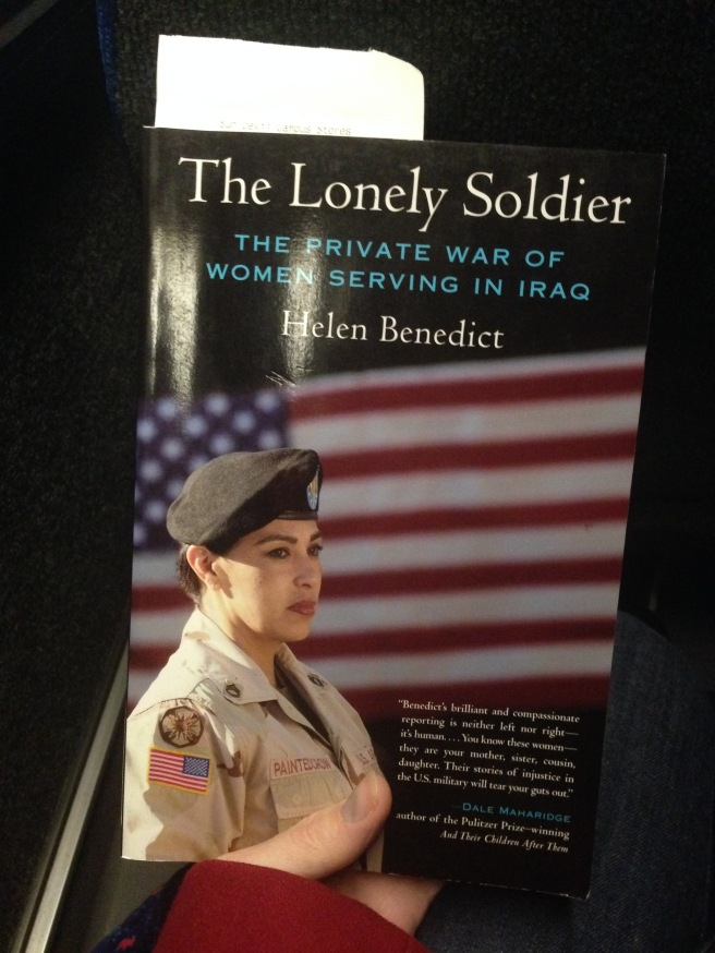The Lonely Soldier....I could do without the generic label of soldier to define service members, but let's hope the rest of the book is  good.