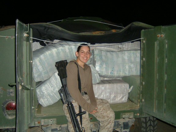 I promise I'm not the only Marine who enjoyed getting their photo taken in front of huge piles of Iraq money.