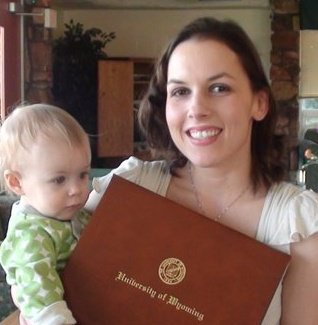 "My daughter and I when I had my ""graduation"" celebration."